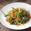 Edamame Spaghetti with Kale Cilantro Pesto [Recipe]