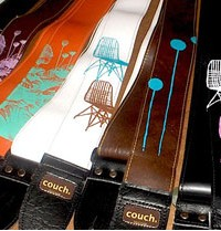 Couch: rock & roll, vintage, vegan guitar straps