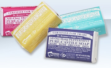 Dr. Bronner's magic vegan organic fair trade soaps