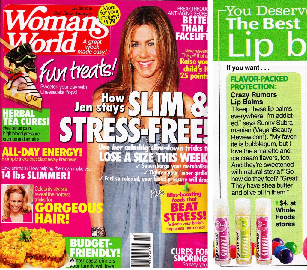 Vegan Beauty Review in Women's World Magazine