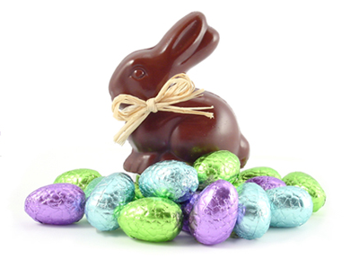 vegan chocolate easter bunny