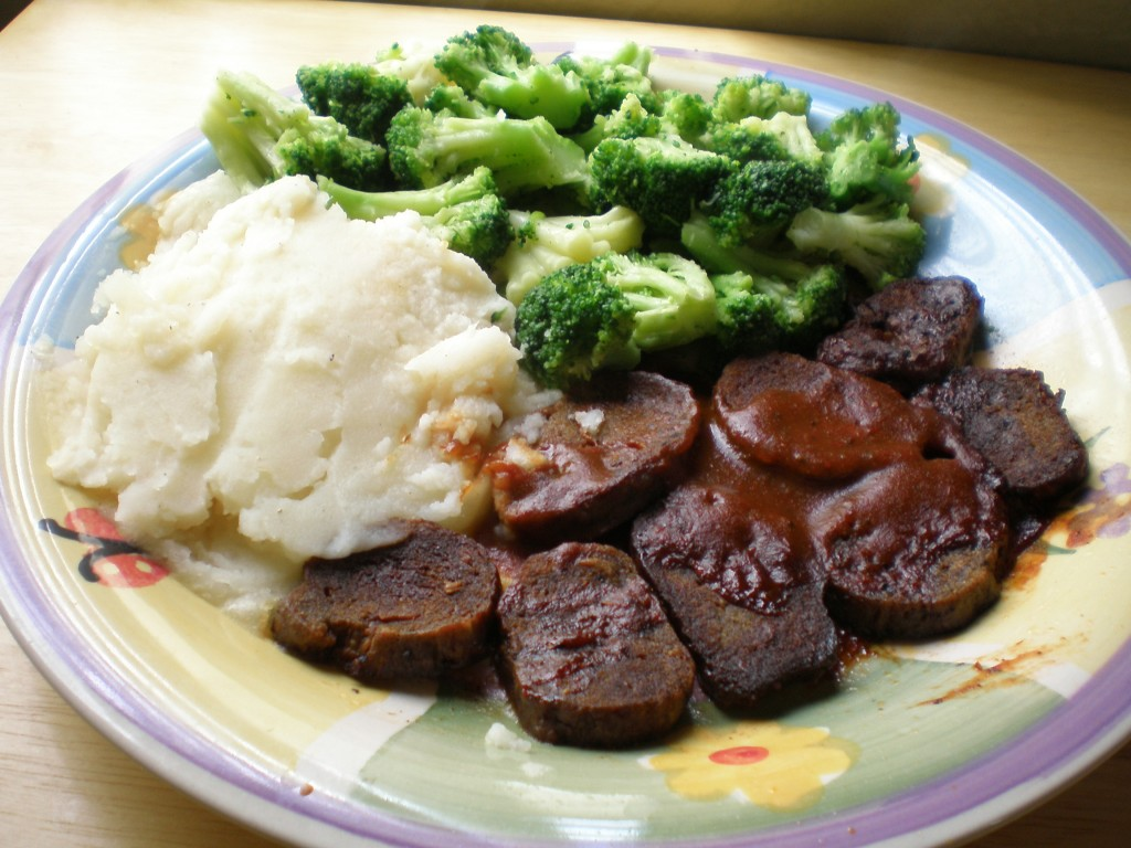 vegan pepper steak dinner