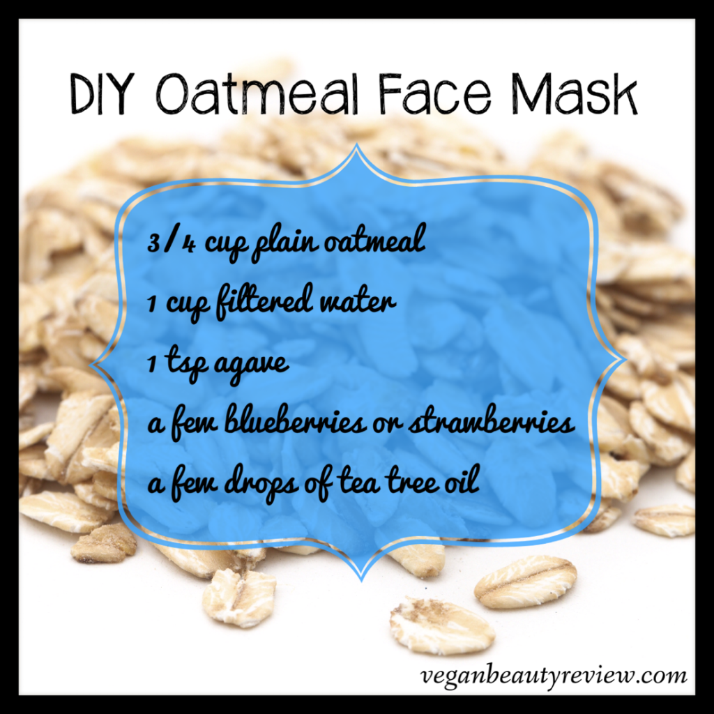 DIY Oatmeal Face Mask - Vegan Beauty Review | Vegan and Cruelty-Free Beauty, Fashion, Food, and Lifestyle