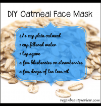 DIY Oatmeal Face Mask