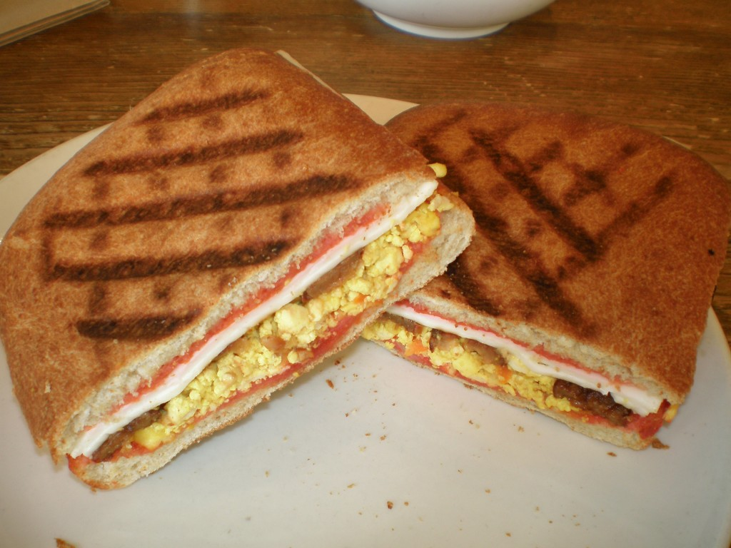 vegan breakfast panini