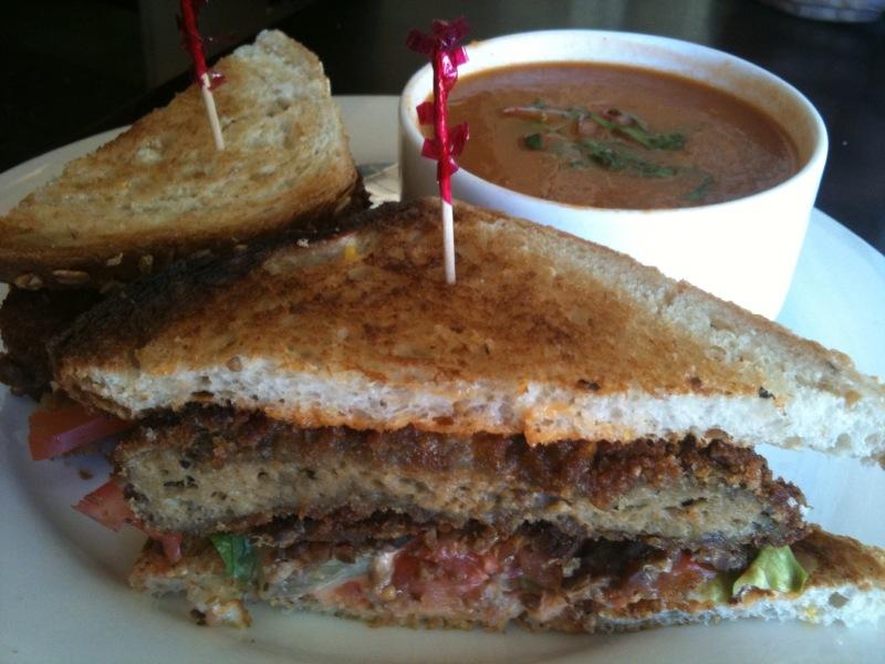 Mani's seitan vegan sandwich