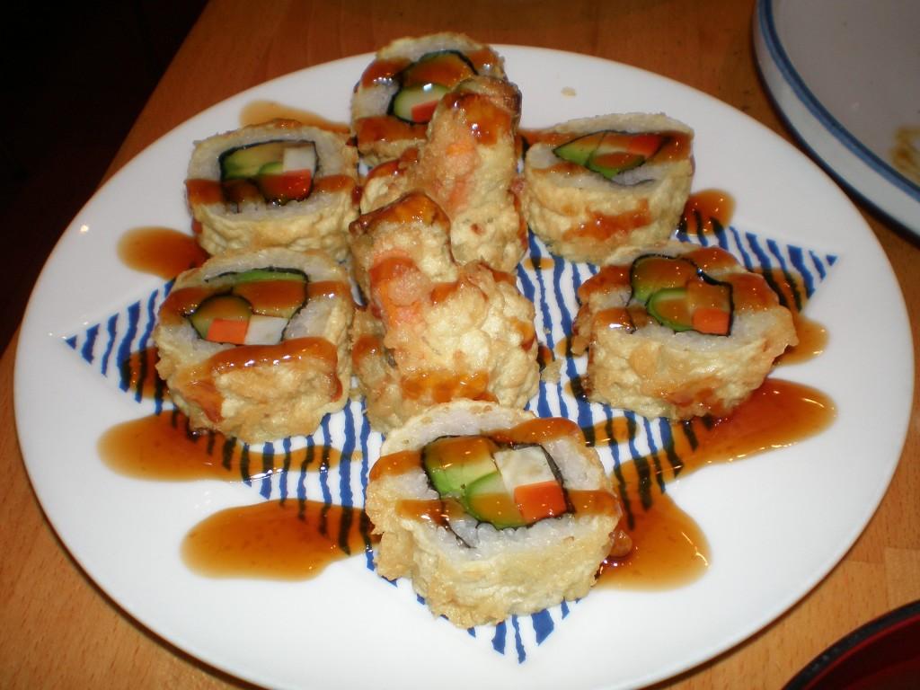 vegan tempura sushi