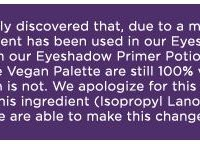 Urban Decay's Eyeshadow Primer Potion Not Vegan
