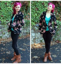 Lulu's Floral Blazer Is A MUST for Fall!