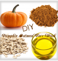DIY Pumpkin Oatmeal Face Mask