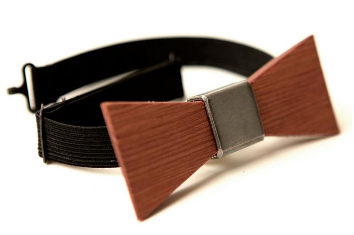 wood bowtie