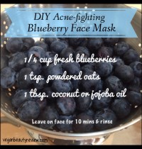 DIY Acne-Fighting Blueberry Face Mask