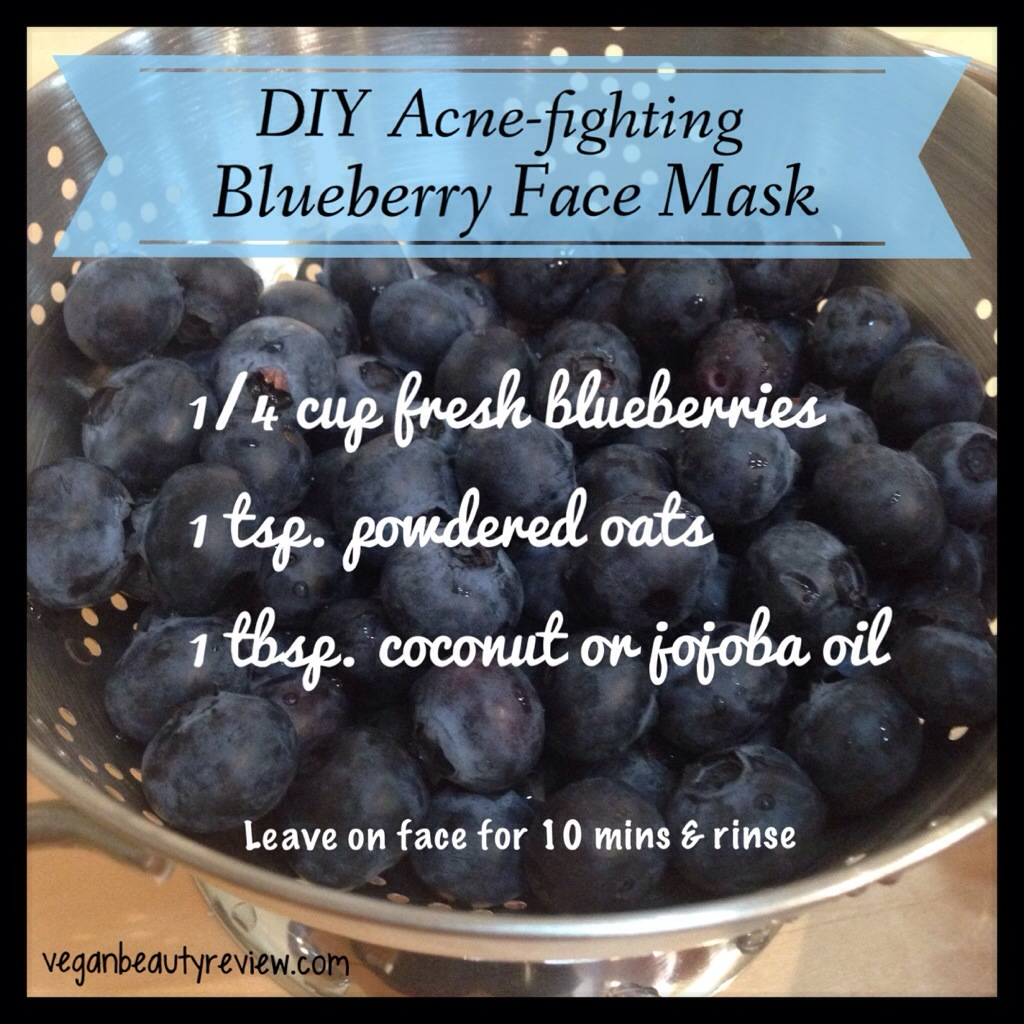 DIY blueberry face mask
