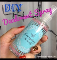 DIY Natural Deodorant Spray