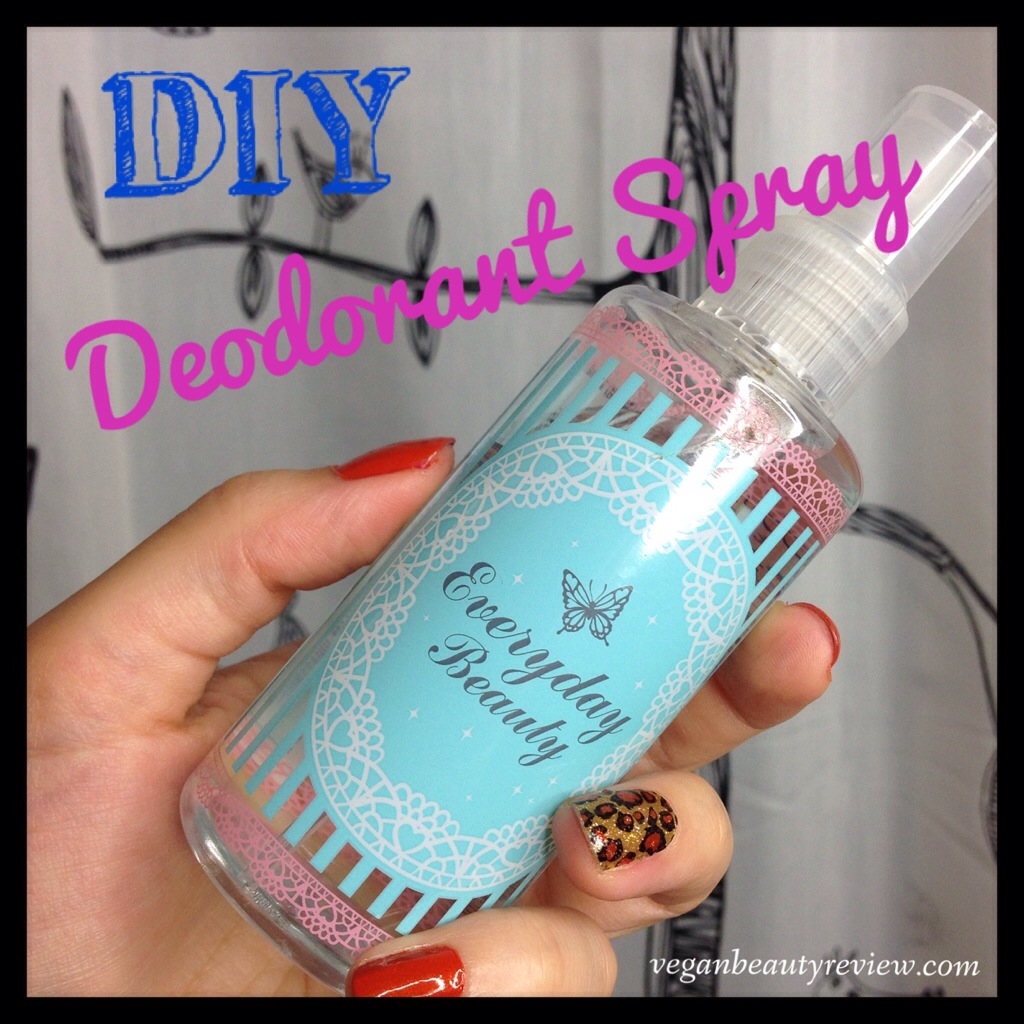 DIY deodorant spray