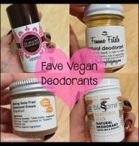 Favorite All-Natural Vegan Deodorants