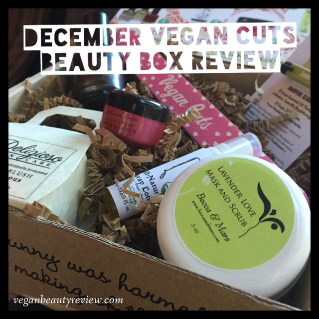 december vegan cuts beauty box review