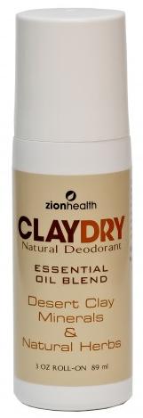 zio health clay dry deodorant