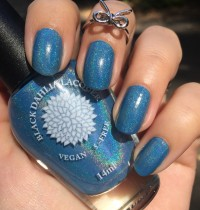 Nails of the Day: Black Dahlia's Beach Hydrangea