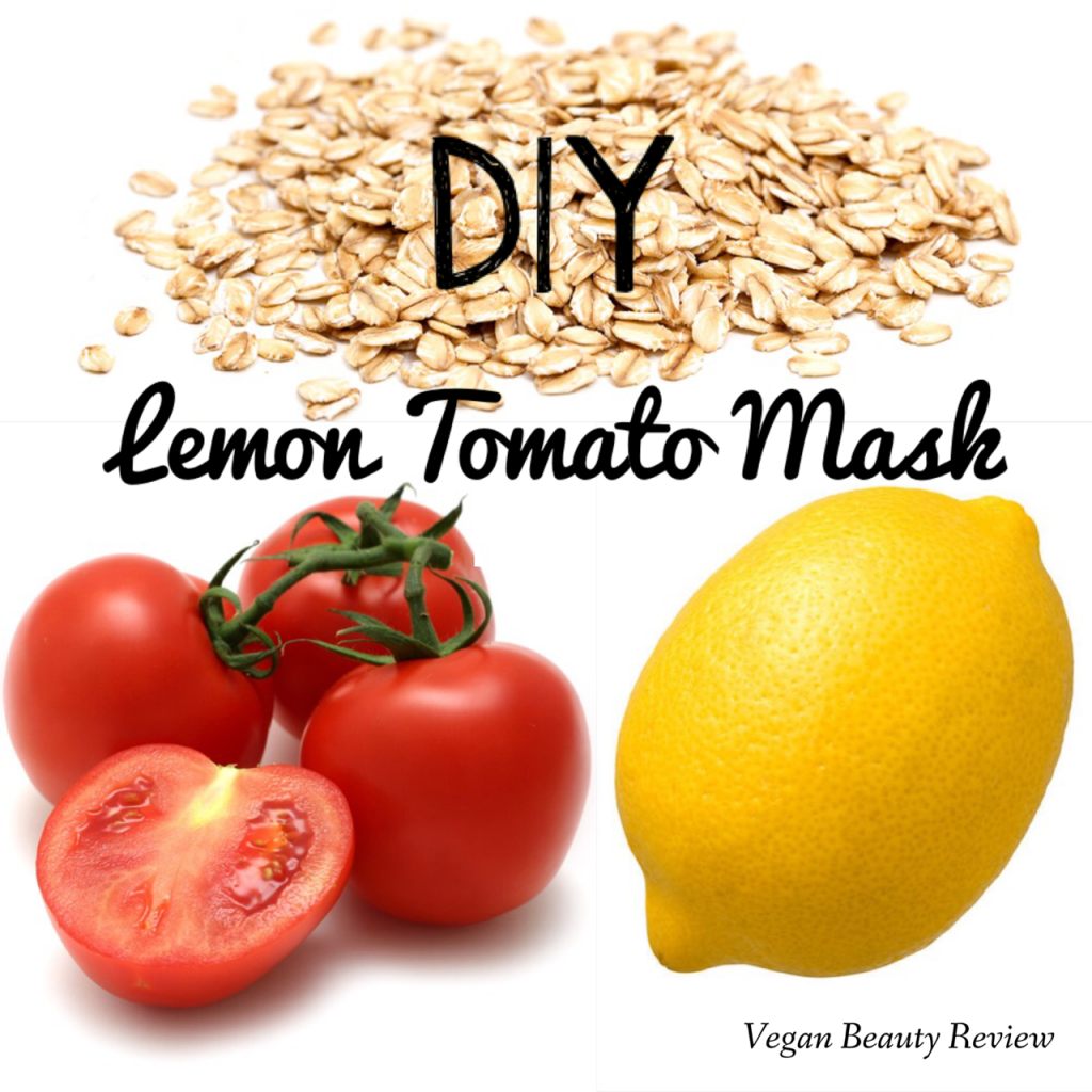 DIY lemon tomato mask