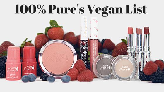 100 percent Pure Vegan List