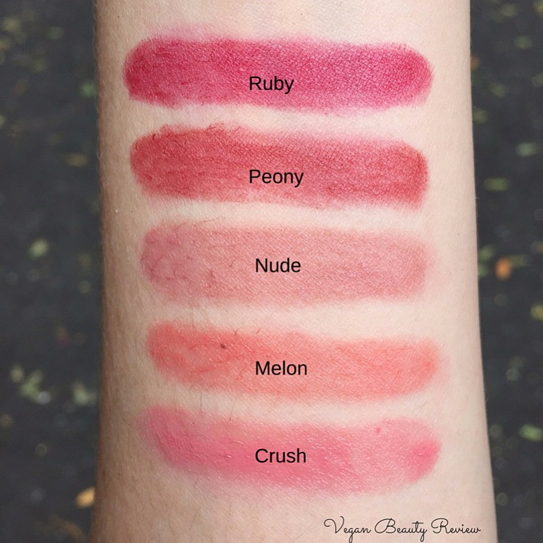 mineral fusion lipstick swatches