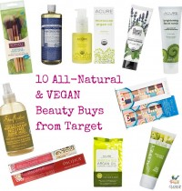10 All-Natural and VEGAN beauty products from Target