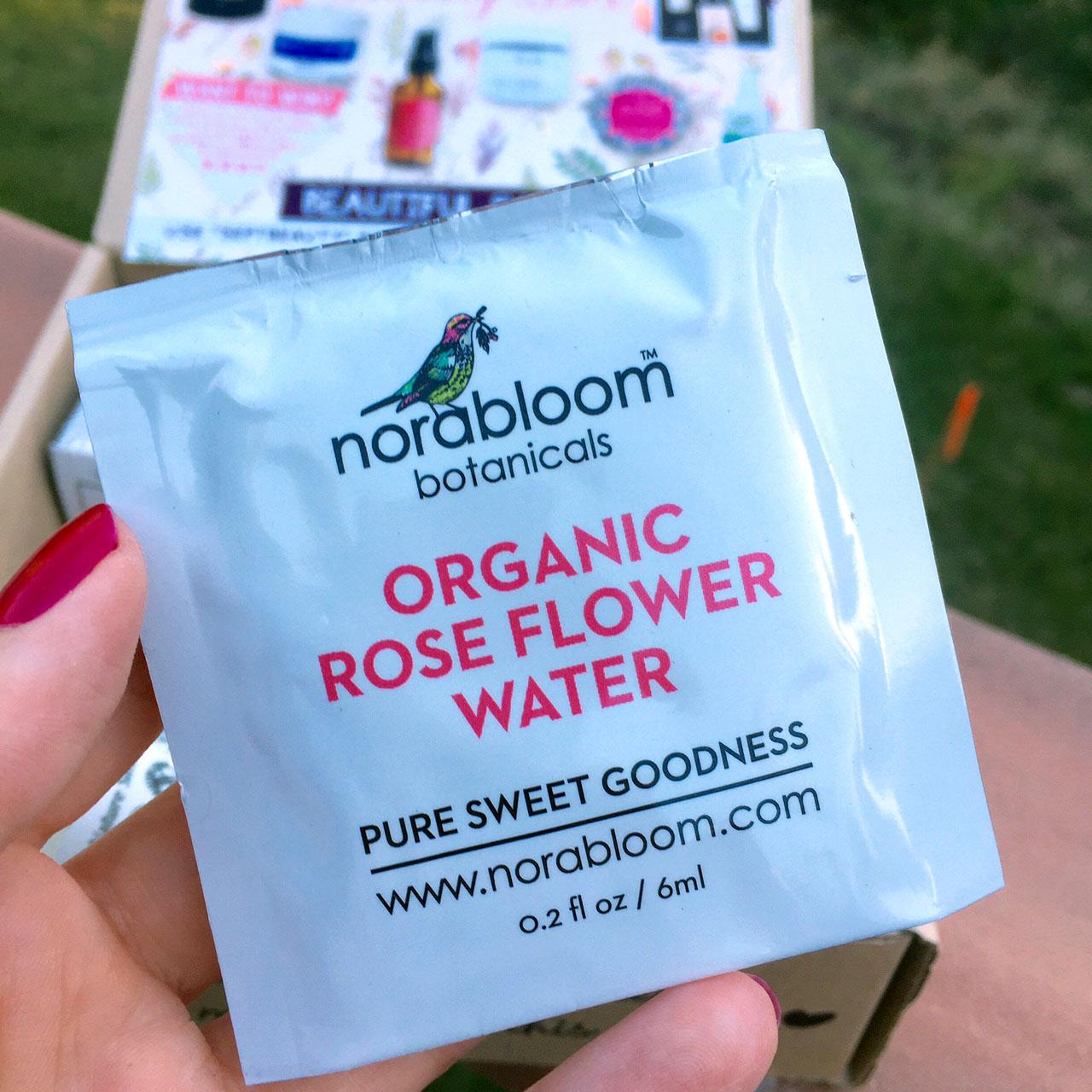 Norabloom Botanicals Organic Rose Flower Water Cotton Pads