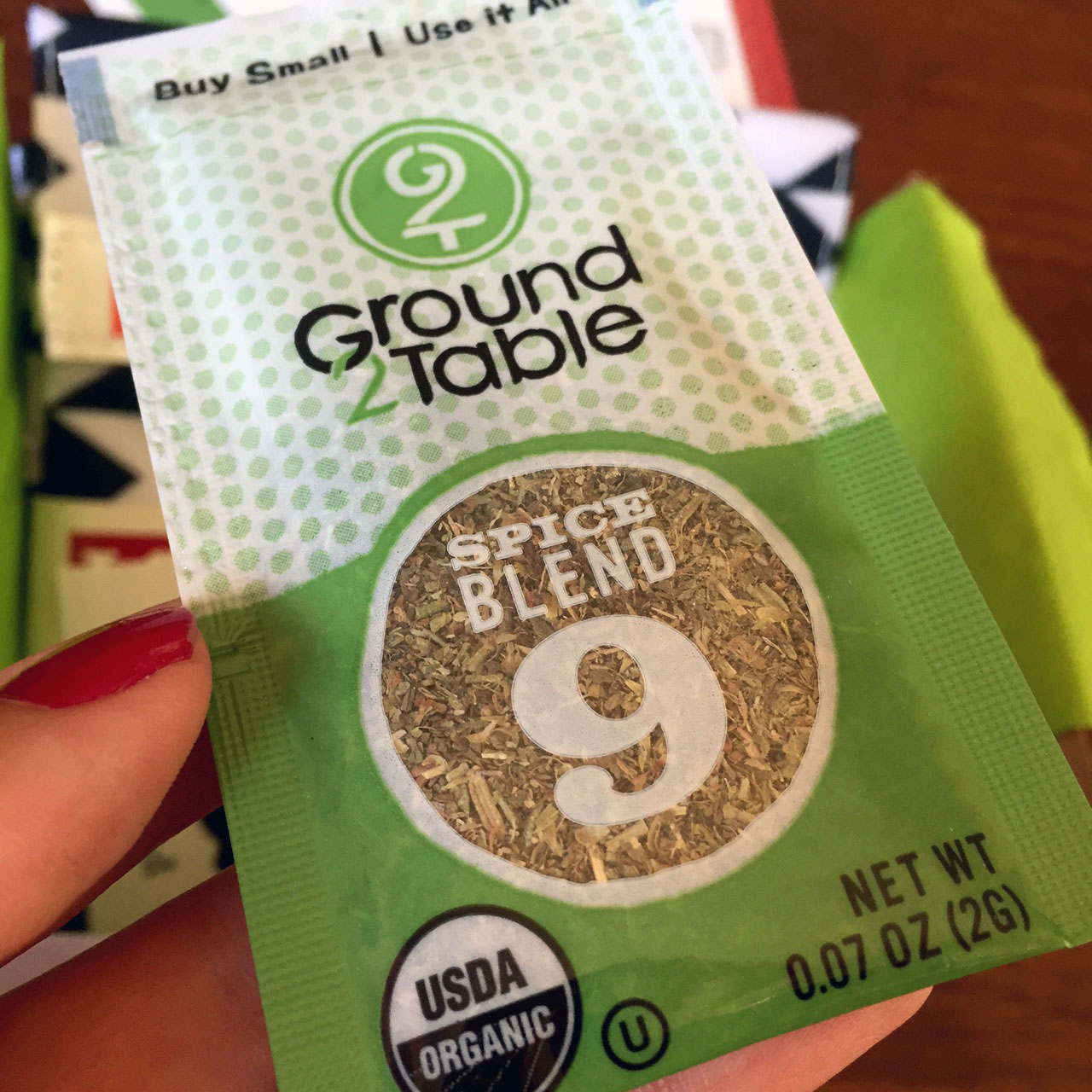 Ground 2 Table Spice Blend Packet
