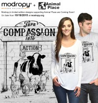 This Week Only: Buy a Tee, Save Animals {Animal Place Sanctuary + Modropy}