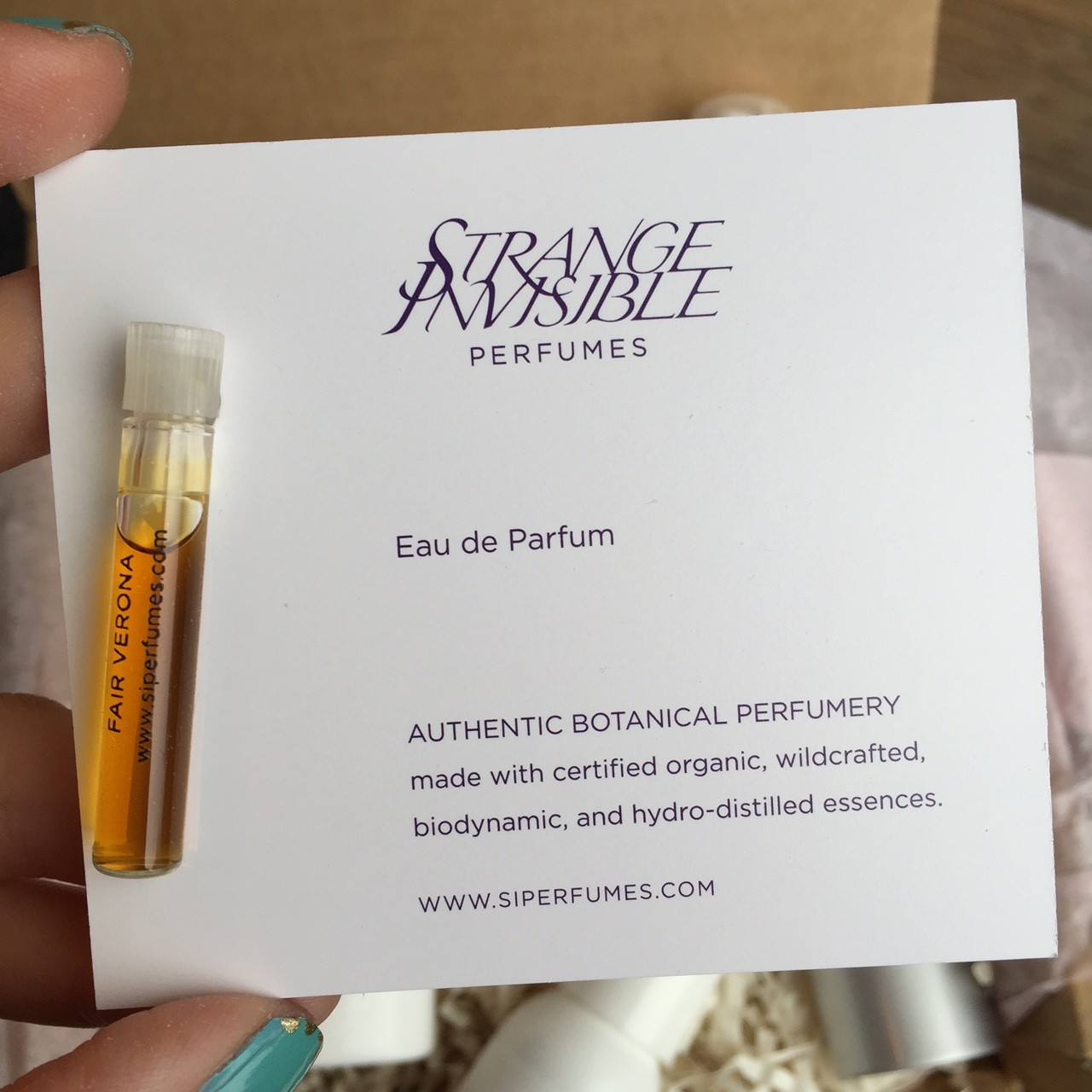 Strange Invisible vegan perfume