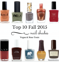 Top 10 Fall 2015 Nail Shades {Vegan & Non-Toxic}
