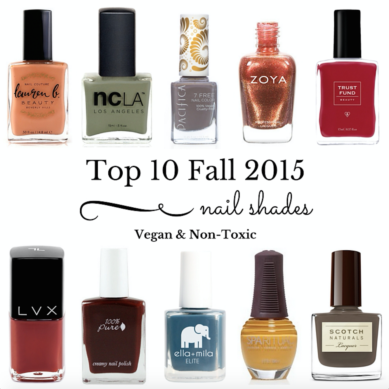 Top 10 Fall 2015 Nail Shades {Vegan & Non-Toxic} - Vegan Beauty ...