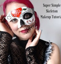 Super Simple Skeleton Makeup Tutorial {Vegan & Cruelty-Free}