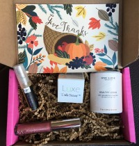 Petit Vour Vegan Beauty Box Review – November 2015