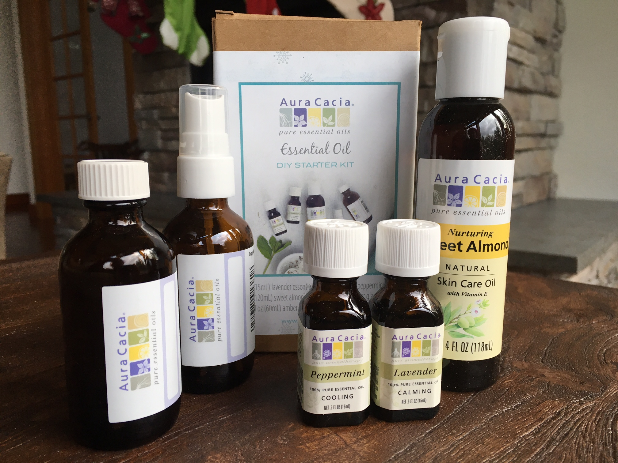 Aura Cacia Holiday Essential Oil Starter Kit