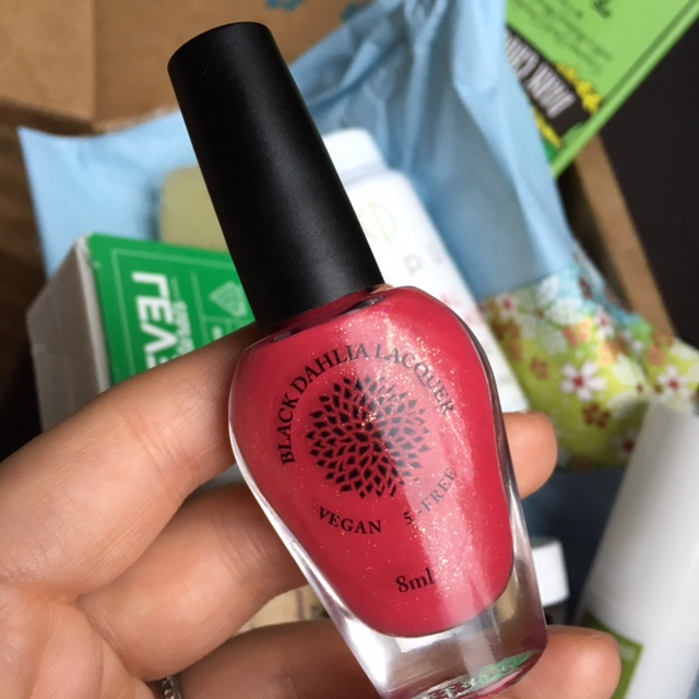 Black Dahlia Nail Lacquer in Red Spike Cactus