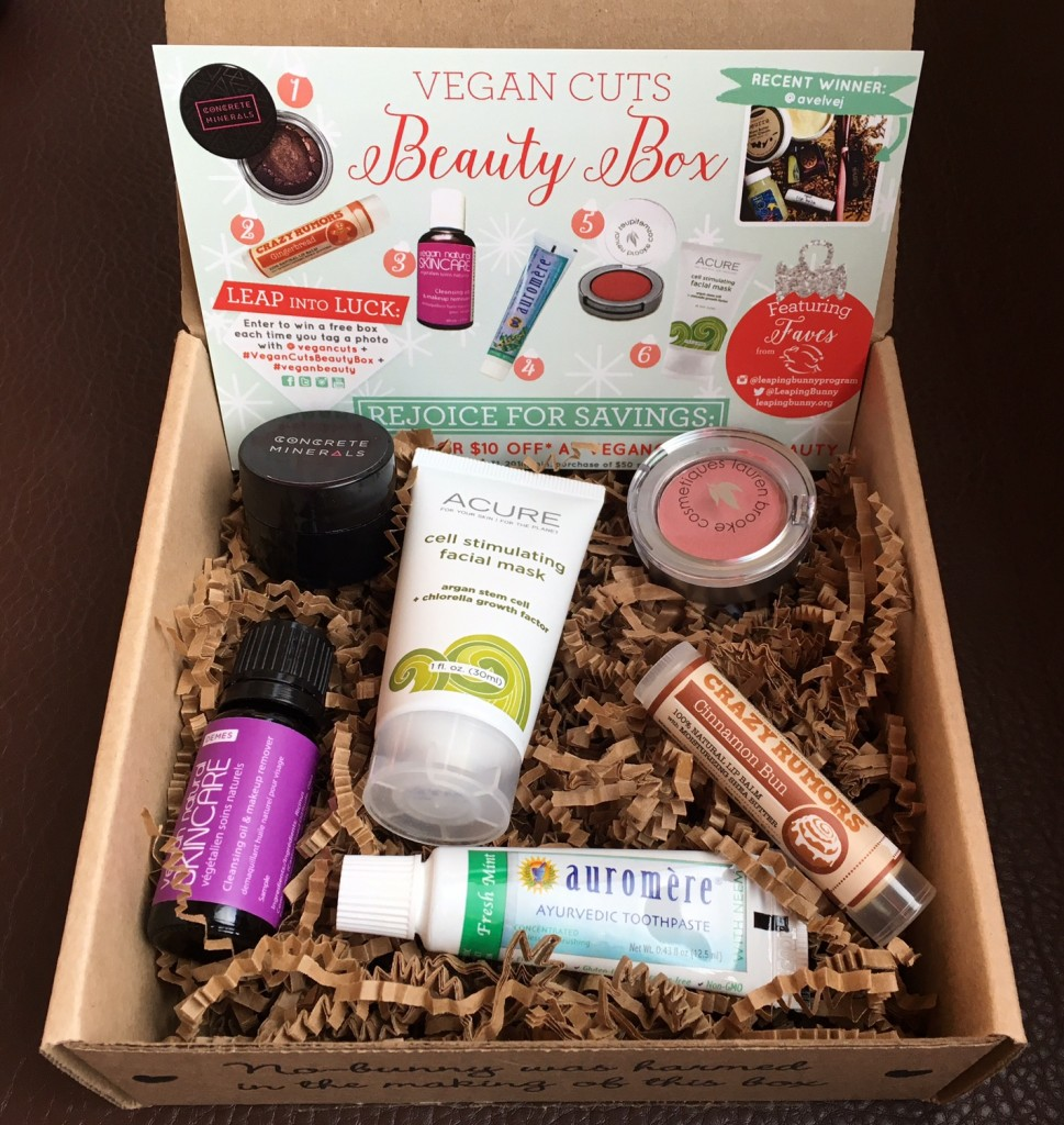 december 2015 vegan cuts beauty box review vegan beauty review vegan and cruelty free beauty. Black Bedroom Furniture Sets. Home Design Ideas