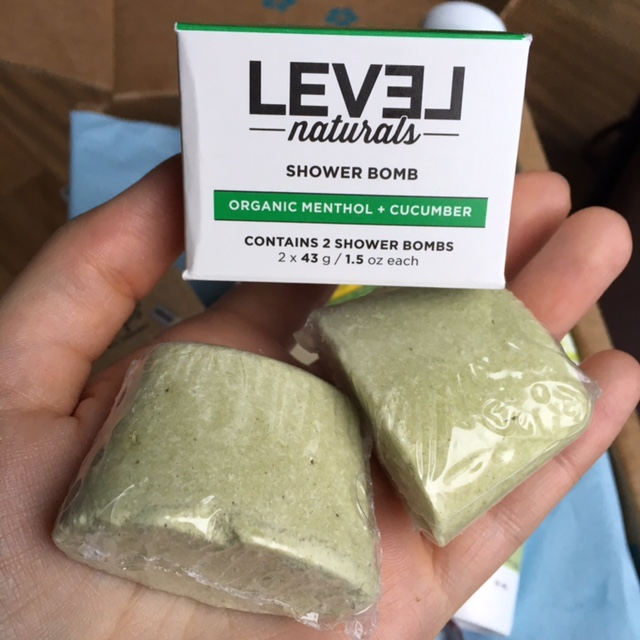 LEVEL Naturals Shower Bombs in Organic Menthol + Cucumber