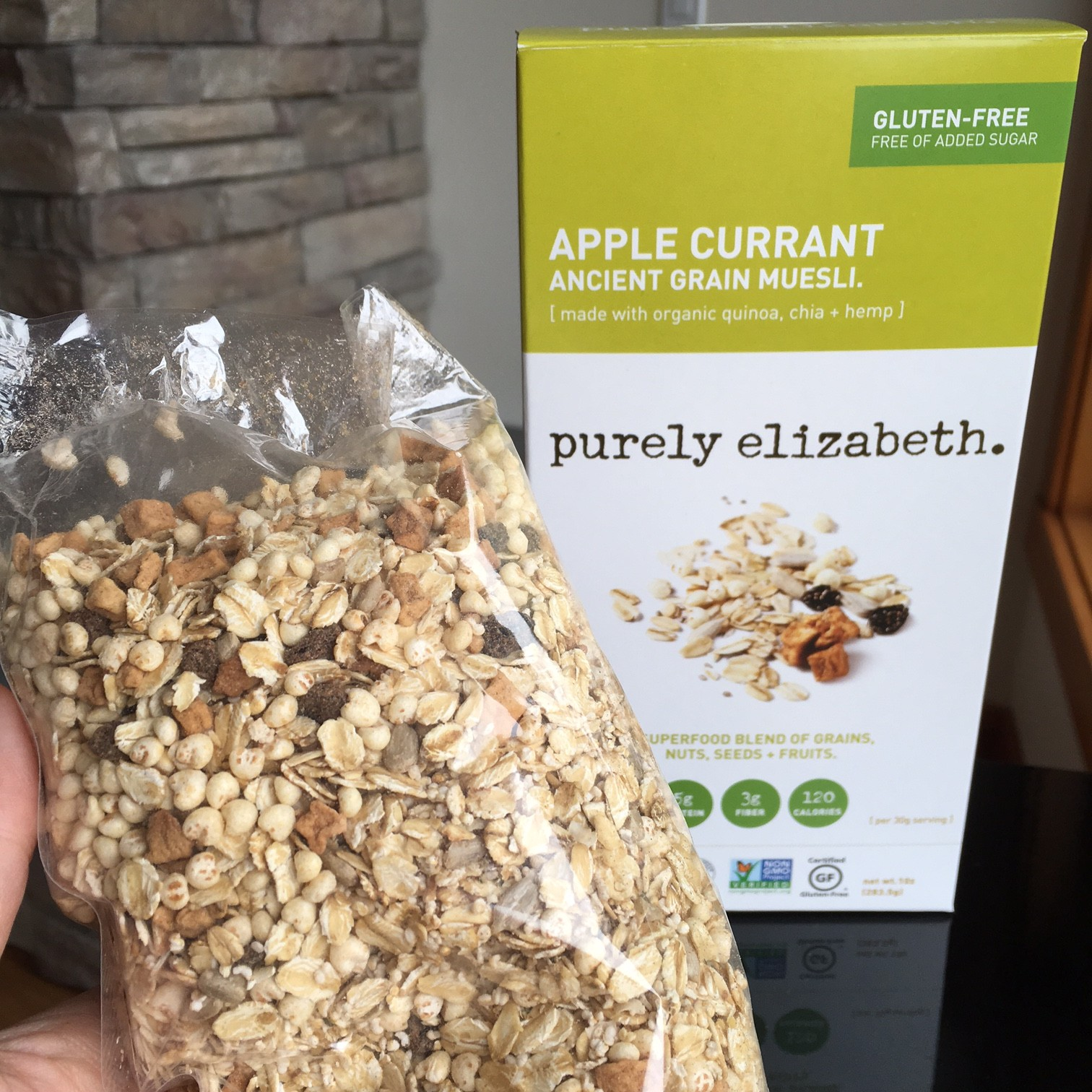 Purely Elizabth apple currant muesli