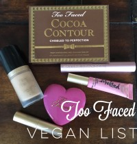 Updated List of Too Faced Vegan Cosmetics
