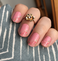 Nails of the Day: Pretty in Pink with 100% Pure