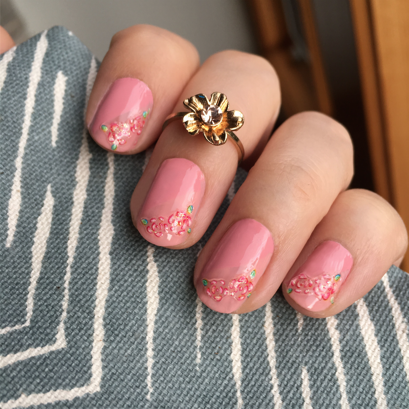 Nails Of The Day: Pretty In Pink With 100% Pure : Vegan