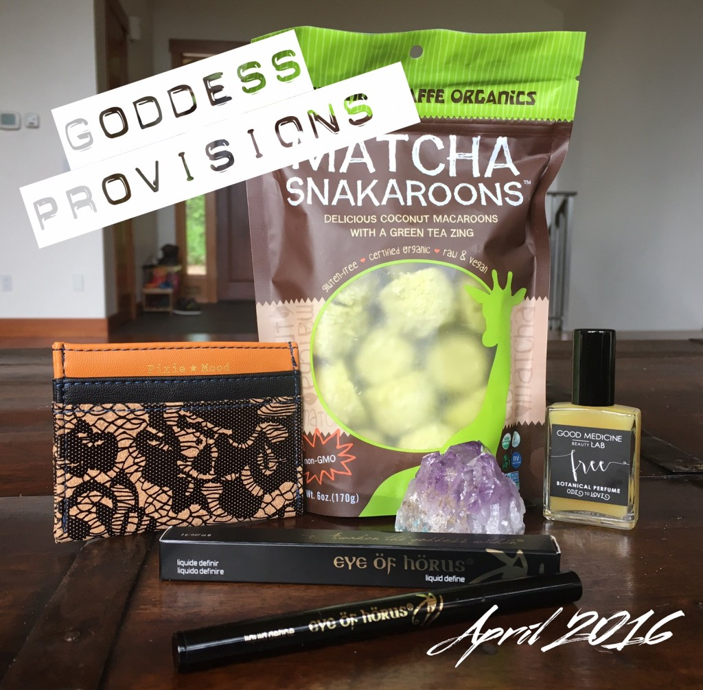 Goddess Provisions April 2016 Box Review Vegan Beauty