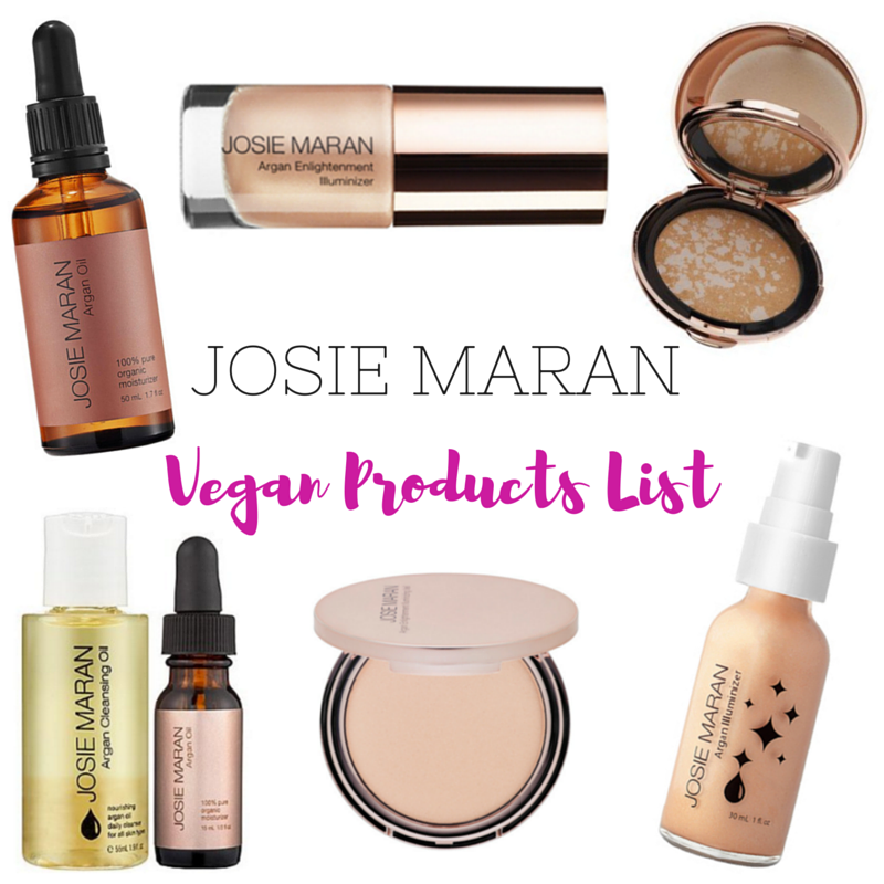 JOSIE MARAN vegan products