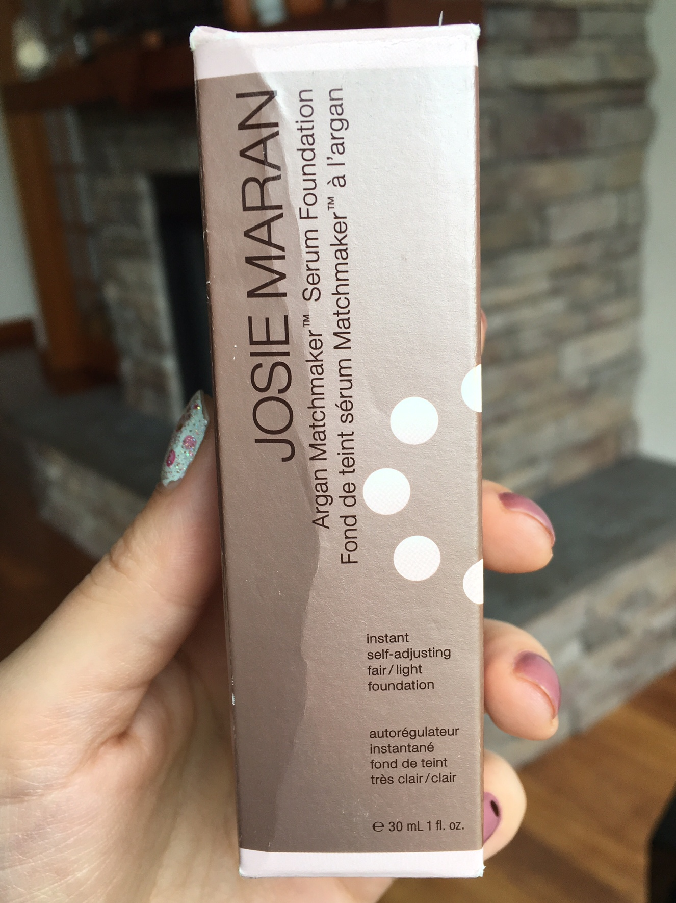 Josie Maran serum foundation packaging