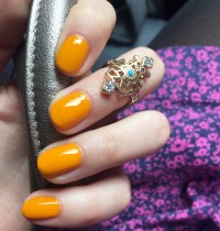 Vegan Nails of the Day: LVX Saffron