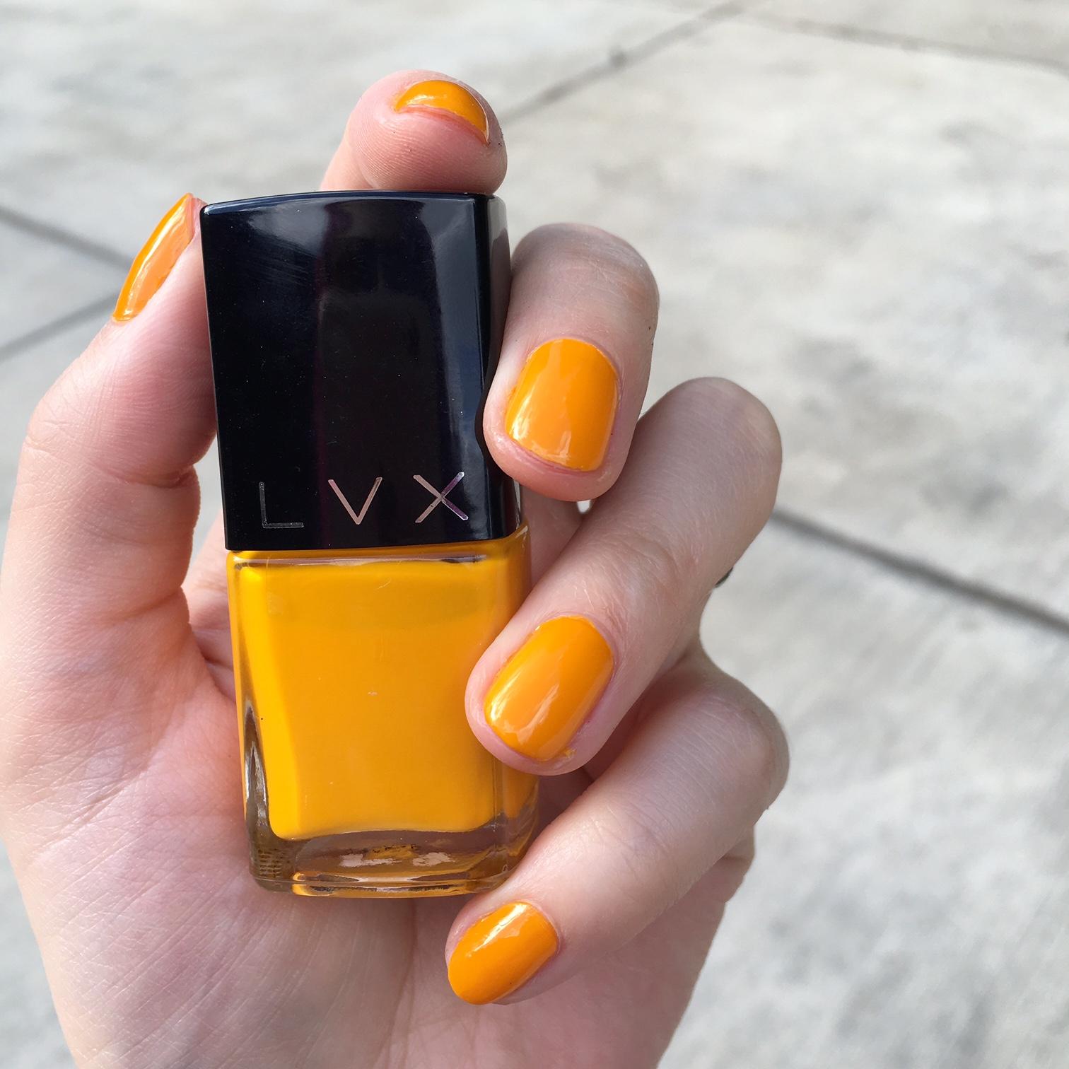 LVX Saffron vegan nail polish