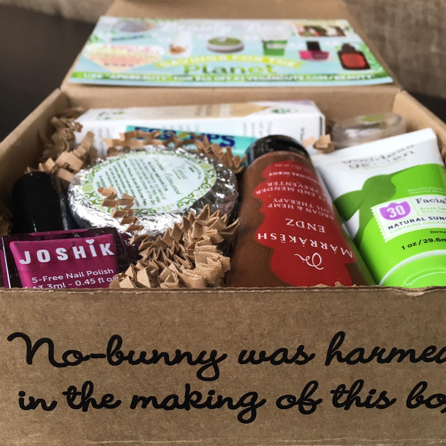 April 2016 Vegan Cuts Beauty Box Review