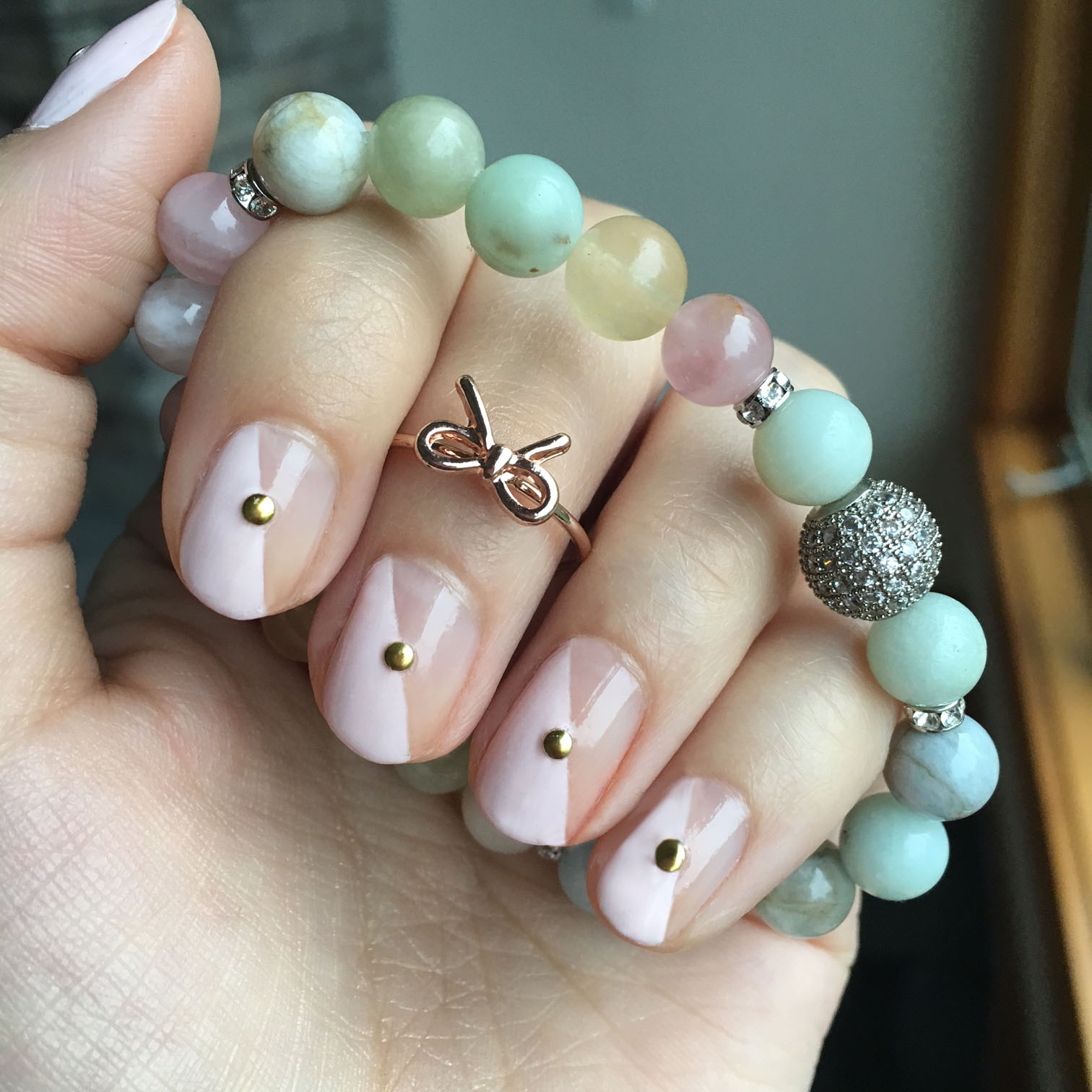 Nails of the Day: Roc Me Baby Mani & Jewelry Combo : Vegan Beauty ...